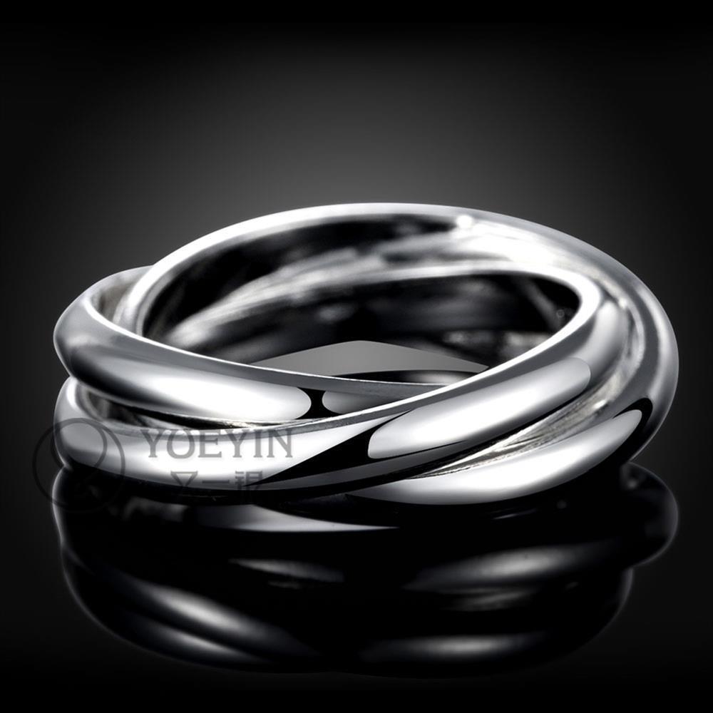 Anillo de plata plateado para las mujeres boda anelli donna Unisex joyería  anillos para hombres venta al por mayor barato Simple elegante R167 en  Anillos de ... 75e68a0ae4a