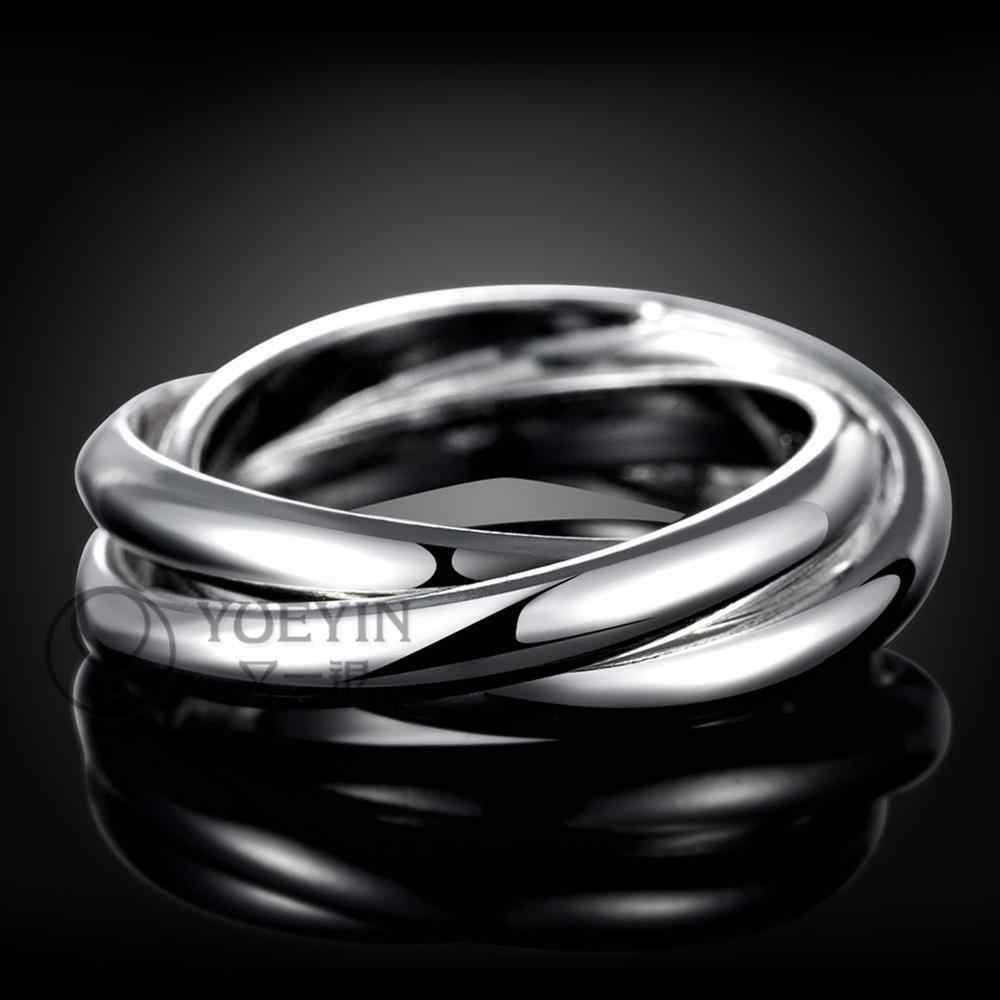 כסף מצופה טבעת עבור נשים חתונה anelli דונה יוניסקס תכשיטי זוג טבעות לגברים סיטונאי זול פשוט אלגנטי R167