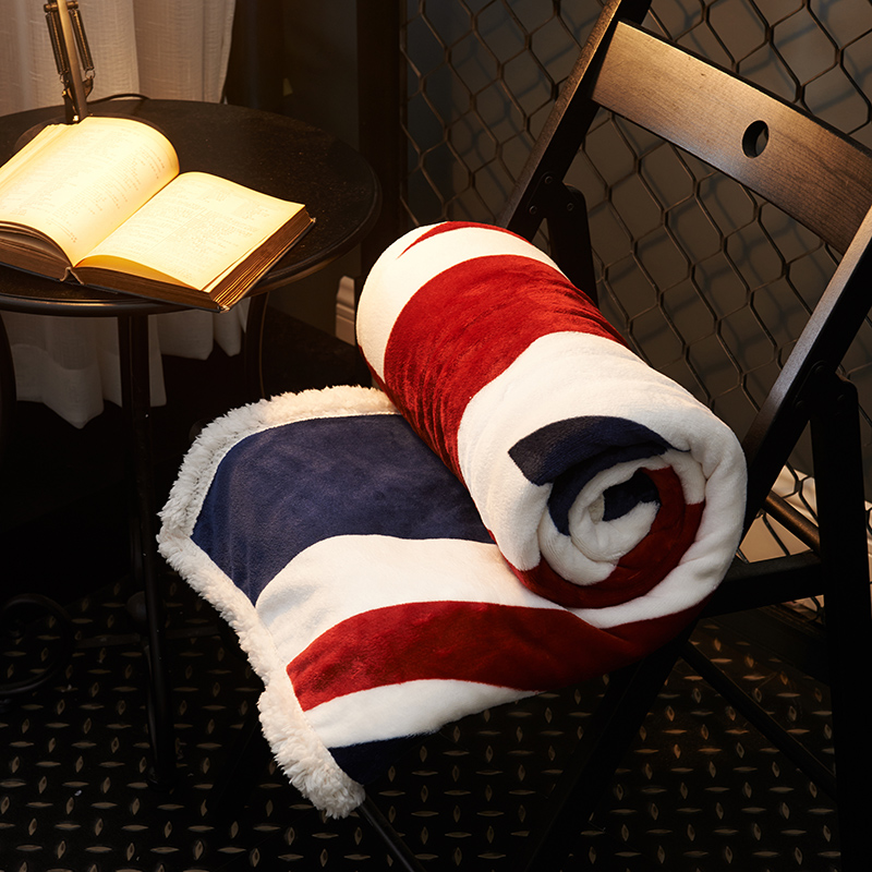 Flag Fleece Blankets On The Bed 100% Polyester Flannel Sofa Blankets For Adults Multi-size Home Decoration Warm Bed Covers