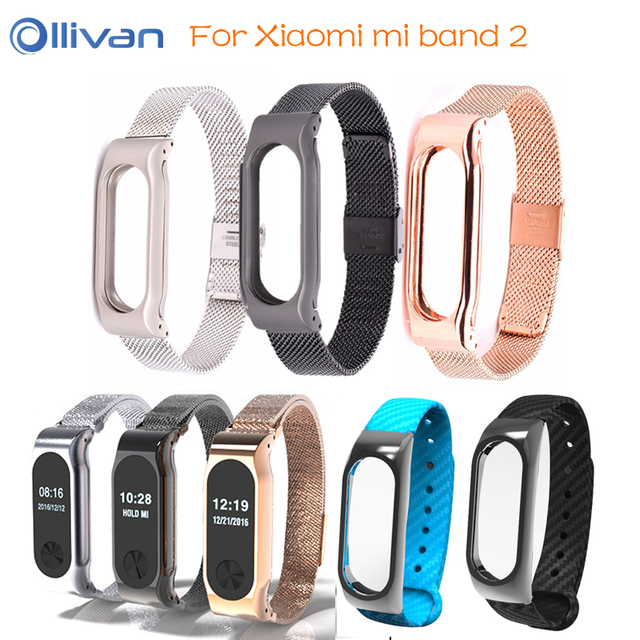 a4d8e9a65 Ollivan Metal Strap For Xiaomi Mi Band 2 Bracelet Straps Stainless Steel  Magnetic Smart wristband Correa Mi Band 2 Accessories