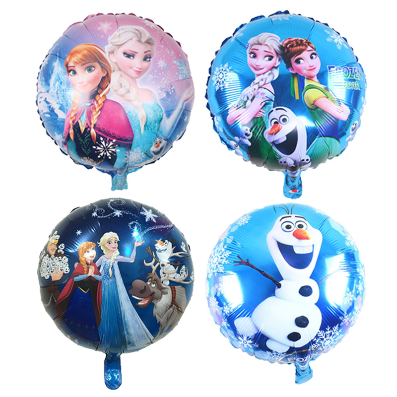 18 Inch Elsa Anna Princess Foil Balloon Inflatable Helium Balloons Baby Shower Birthday Globos Party Decorations