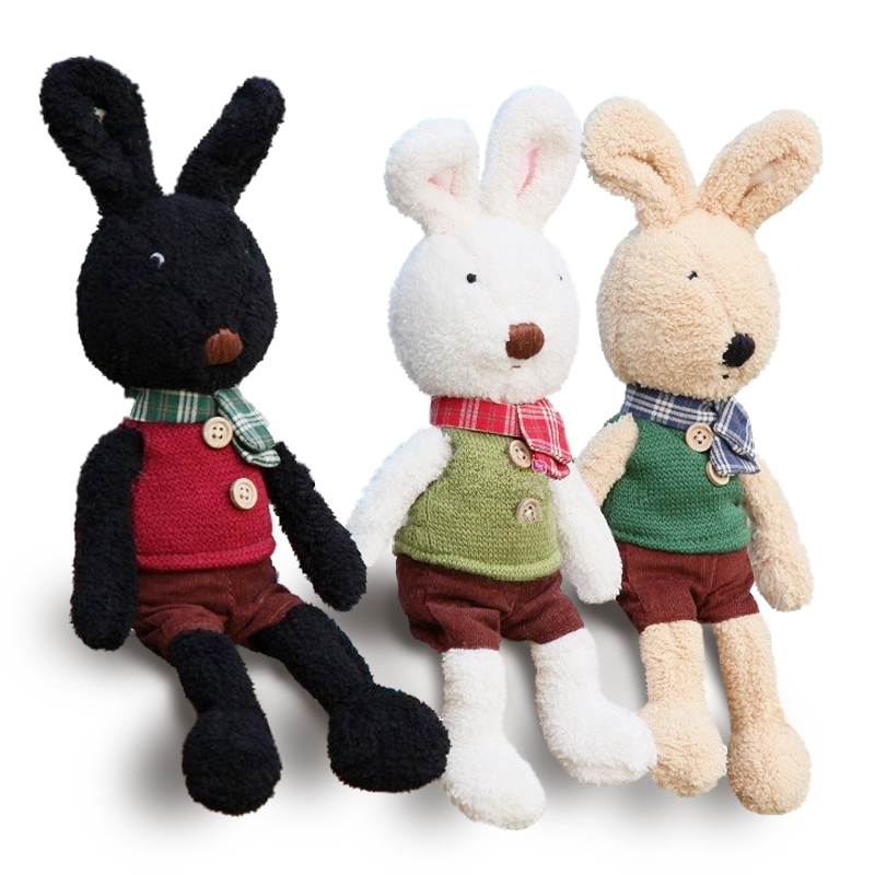 Original le sucre 30cm kawaii Rabbit plush toys High-quality bunny kids toys Changing clothes Stuffed doll for children gifts 2016 new elk with scraf stuffed toys high quality merino wool creative crafts toys kawaii hot selling for kids toys doll