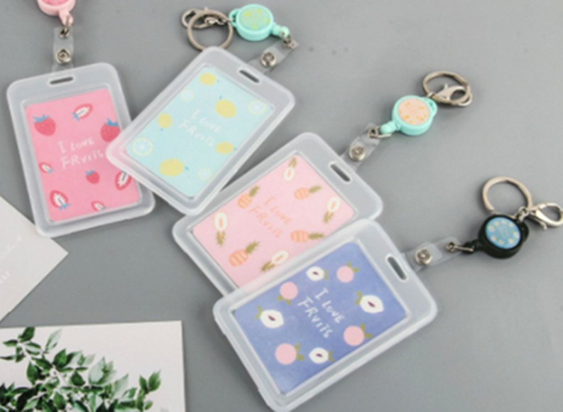 Cartoon PVC Credit Card Holder Women  Cute Unicorn  Fruit Business Cactus ID Card  Case Kids Gift Passport Bank Card Wallet