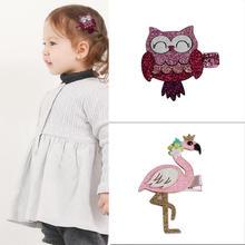 Hot Sale 1pc Baby Girl PrincessCute Owl Hair clip Small Euramerican Cartoon Children Hairpins