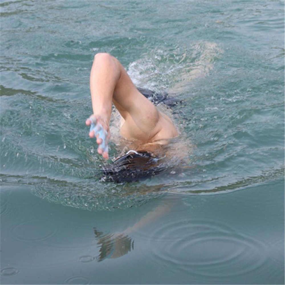 Guantes de natación, 1 par de aletas de entrenamiento manual, guantes de entrenamiento Palmated para mujeres, hombres, niños, accesorios de remo de buceo