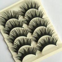 5 Pairs/set Beauty Thick Makeup False Eyelashes Long Black Nautral Handmade Eye Lashes Extension Tools False Eyelashes
