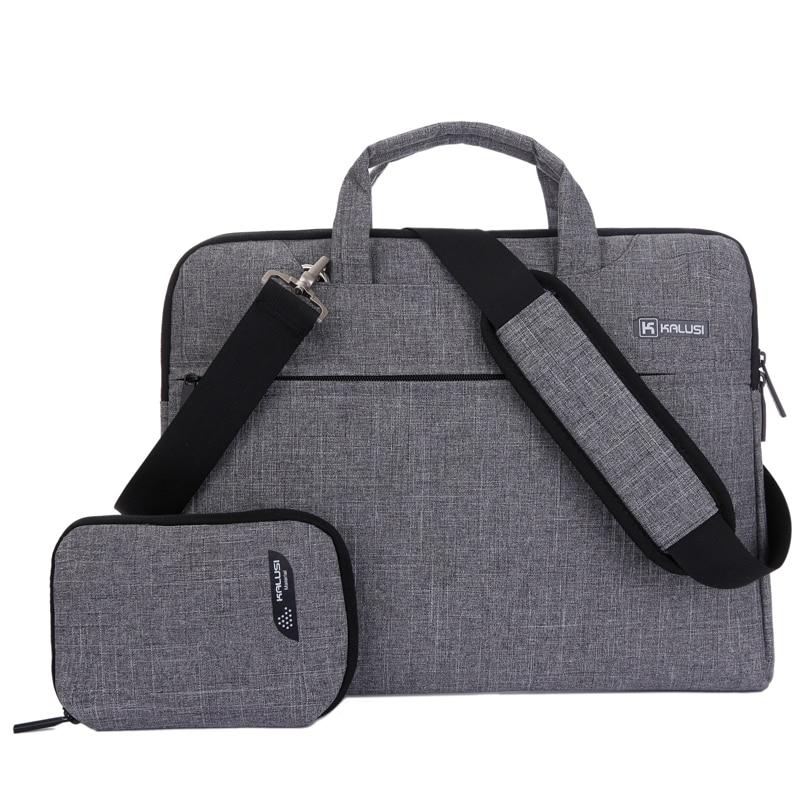 """Bärbar väska ny ankomst kaLuSi varumärke vattentät handväska 11 """"13"""" 15 """"17"""" bärbar dator unisex portfölj axel väska"""