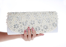 Neue Perle Rhinestone Frauen Clutch Frau Kette Umhängetaschen Frauen Geldbörsen und Handtaschen Abendtaschen für Party Hochzeit