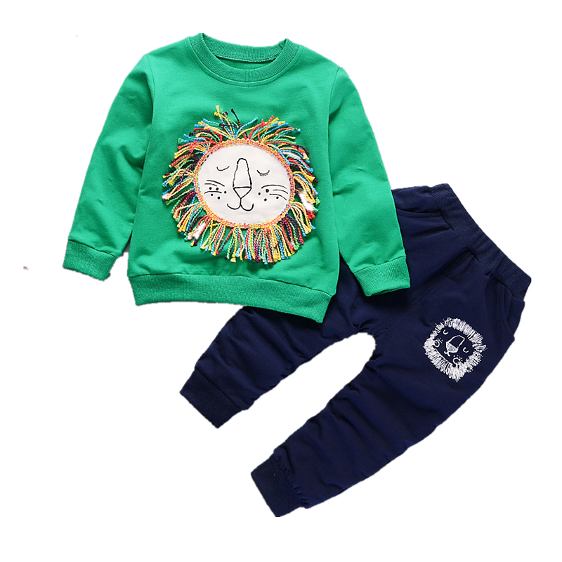 2018 Boys Clothing Set Cartoon Baby Clothes Fashion Long Sleeve Tops+Pants Tracksuits For Boys Girls Kids Casual Sport Suits baby boys t shirt children clothing 2017 fashion boys long sleeve tops animal letter kids clothes t shirts for girls sweatshirt