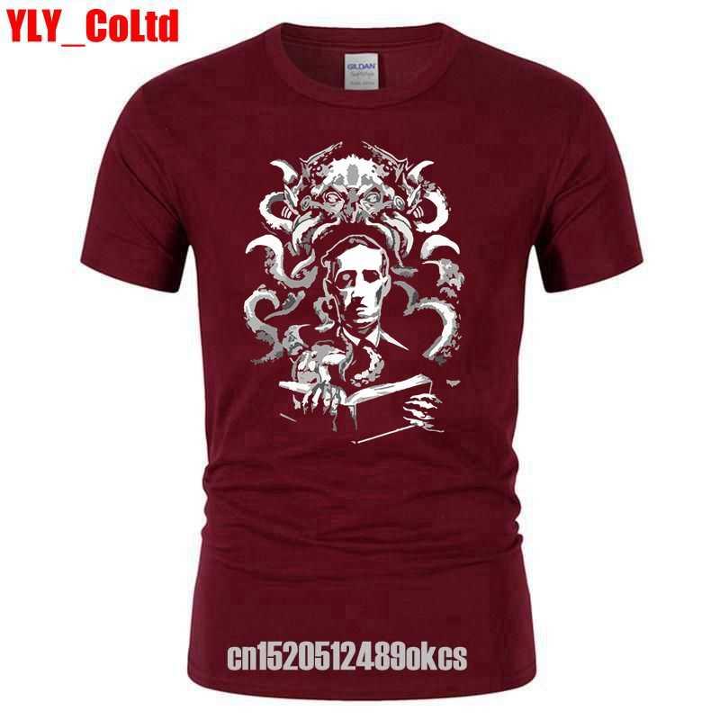 Camisa de manga curta dos homens de cthulhu luau record nova vinda camiseta camiseta em torno do pescoço t camisas masculinas engraçado t camisa ftp