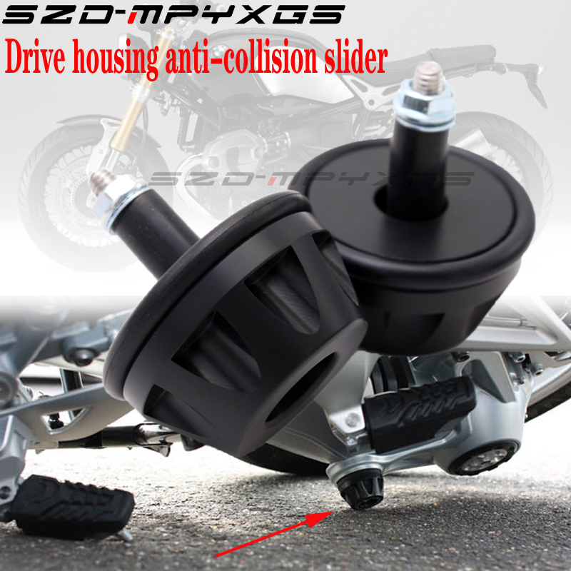 V For <font><b>BMW</b></font> R1200R (2006-2014) Motorcycle Final Drive Housing Cardan Crash Slider Protector For <font><b>BMW</b></font> R1200S <font><b>R1200GS</b></font> 2006 2007 <font><b>2008</b></font> image