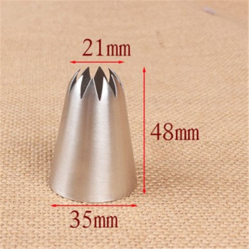 C10# Large Size Icing Piping Nozzle Cake Cream Decoration Head Bakery Pastry Tips Stainless Steel Cake Decorating Tool 2