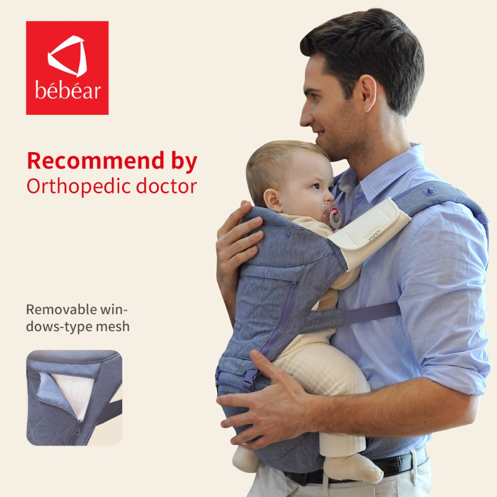 Bebear new hipseat for prevent o-type legs aviation aluminum core Ergonomic baby carriers manduca backpack save effort kid sling