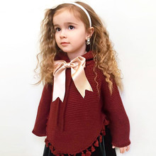 Winter Warm knitted wool baby jacket knitted girls coat coll