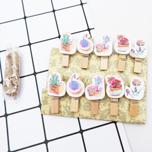 10Pcs/lot Colored fleshy wood clip Wooden Clip Photo Paper Postcard Craft diy decoration Clips Office Binding Supplies Stationer 10pcs lot creative original eco home decoration wooden clip photo paper craft clips party decoration clips