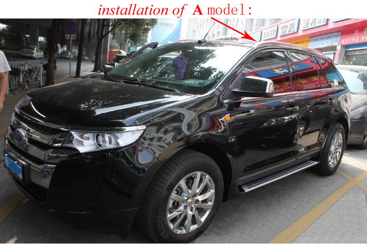 Oe Model Roof Rail Roof Rack Luggage Bar For Ford Edge   Aluminum Alloyfix By Screws Or Glueiso Quality In Armrests From Automobiles