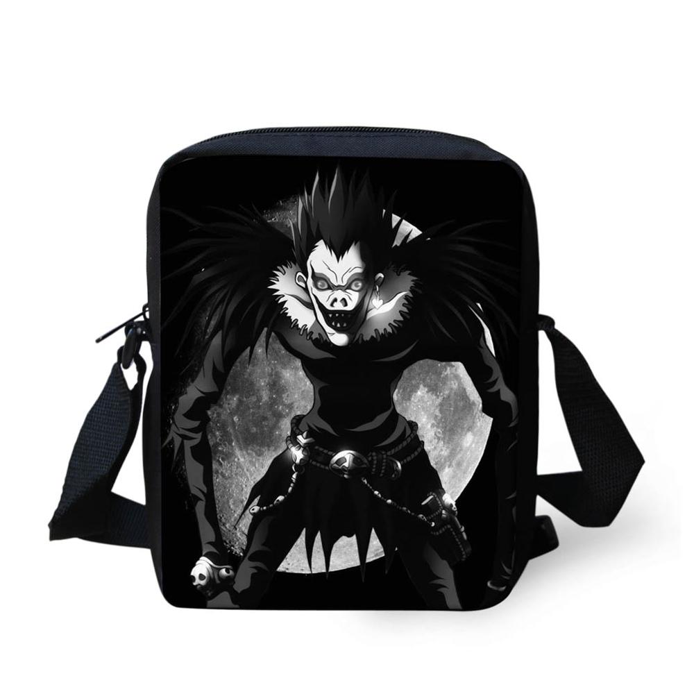 Jackherelook Death Note Ryuuku School Crossbody Bags Boys Schoolbag Kids Men Casual Travel Shoulder Bag Student Satchels Mochila