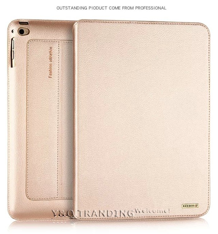 Ultrathin Cowhide Genuine Leather Case for Apple iPad Real Leather Business Stand Smart Cover for iPad  (7)