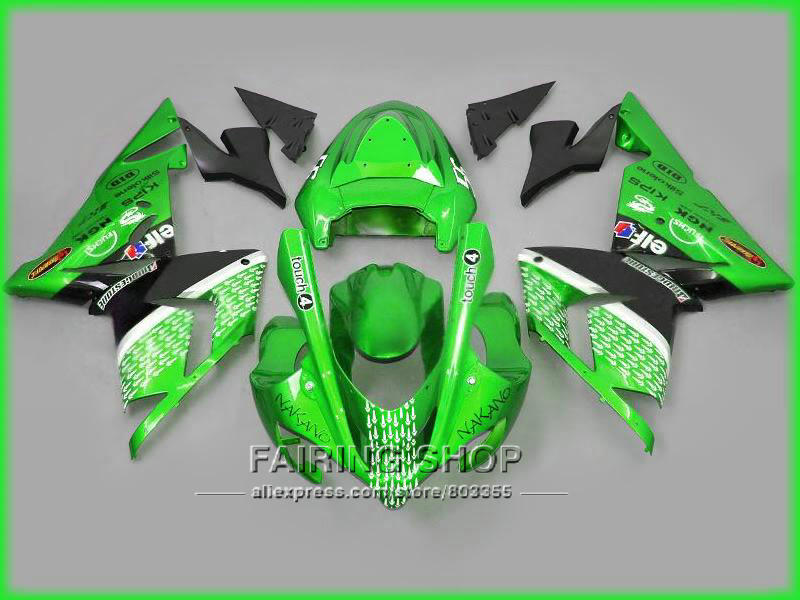 Low price Green Fairings For Kawasaki Ninja zx10r zx-10r 2004 2005 04 05 100%fit Injection molding Abs Fairing kit n11