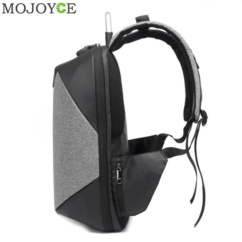 15.6 Inch Laptop Anti-theft Men Backpack With Usb Charging Headphone Interface Port Lock Business Waterproof For Work Women #4