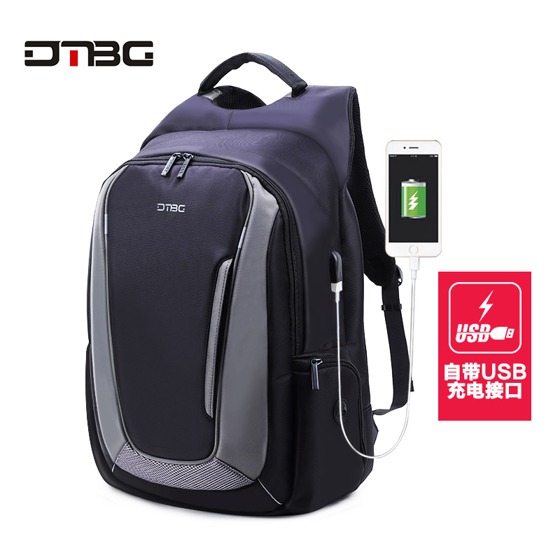 DTBG 17 Inch Laptop Backpack With USB Charging Port Anti Theft Pockets Stylish Travel Business Backpack Men Patchwork School Bag waterproof lightweight stylish classical school backpack pure color fashion laptop backpack with usb charge port