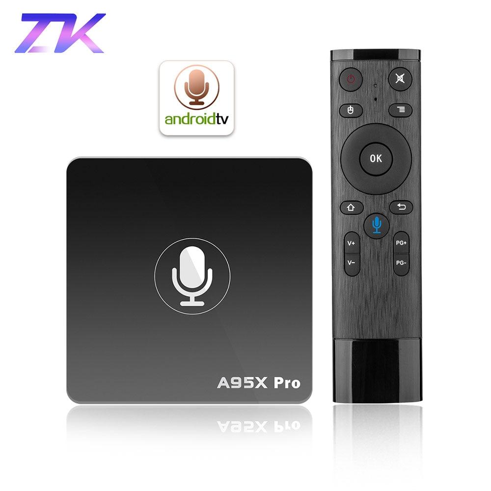 Google TV Box A95X Pro 2g 16g Smart Android 7.1 TV Box Voice Control Amlogic S905W WiFi LAN Media player PK X96mini X96 mini