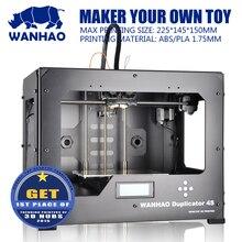 Wanhao Дубликатор 4S wanhao DIY Kit 3D принтер, металлический каркас, высокая точность, Многоцветный материал RepRap комплект с dual-экструдера