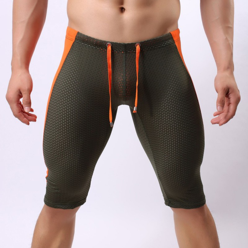 23f8189f3587 Running Shorts Mens Tight Mesh Breathable Sports Gym Training Bodybuilding  Bike Male Short Pants Compression Jogging