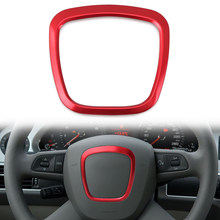 Car Metal Steering Wheel Ring Frame Cover For Audi A3 A8L A4 A5 A6 A6L Q7 Q5 Q3 Interiro Decoration Sticker Accessories(China)