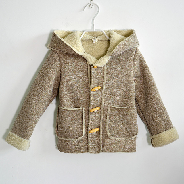 Fashion Korean Style Autumn Winter Thick Children's Clothing Infants Boys Coats Outerwear Clothes Child Hooded Jacket for Boys