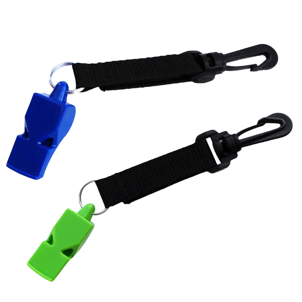 2 Piece Ultra-loud Emergency Scuba Dive Safety Whistle Outdoor Boating Diving Emergency Survival Gear