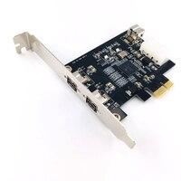 PCIE Combo 2x 1394b + 1x 1394a Firewire Ports PCI Express Controller Card, 1394 card TI Chipset,