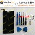 Pantalla lcd para lenovo s850 100% nueva pantalla lcd de repuesto + de la pantalla táctil para lenovo s850 smartphone envío gratis