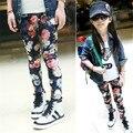 Цветок Печатных девушки Брюки 2017 Новое Прибытие Моды Дизайн Брюки для детей модные зимние брюки для девочки детская одежда