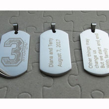 personalized logo dog tags with chain hot sales cheap Customized Stainless steel Army Dog Tag Fashion Pendant Engraved