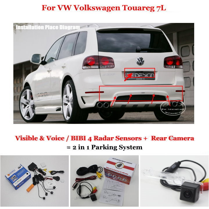 US $47 13 20% OFF|Liislee For VW Volkswagen Touareg 7L Car Parking Sensors  + Rear View Camera = 2 in 1 Visual / BIBI Alarm Parking System-in Parking