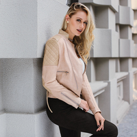 Lily Rosie Girl Stand Collar Patchwork Black Women Coats 2017 Autumn Winter Long Sleeve With Zipper