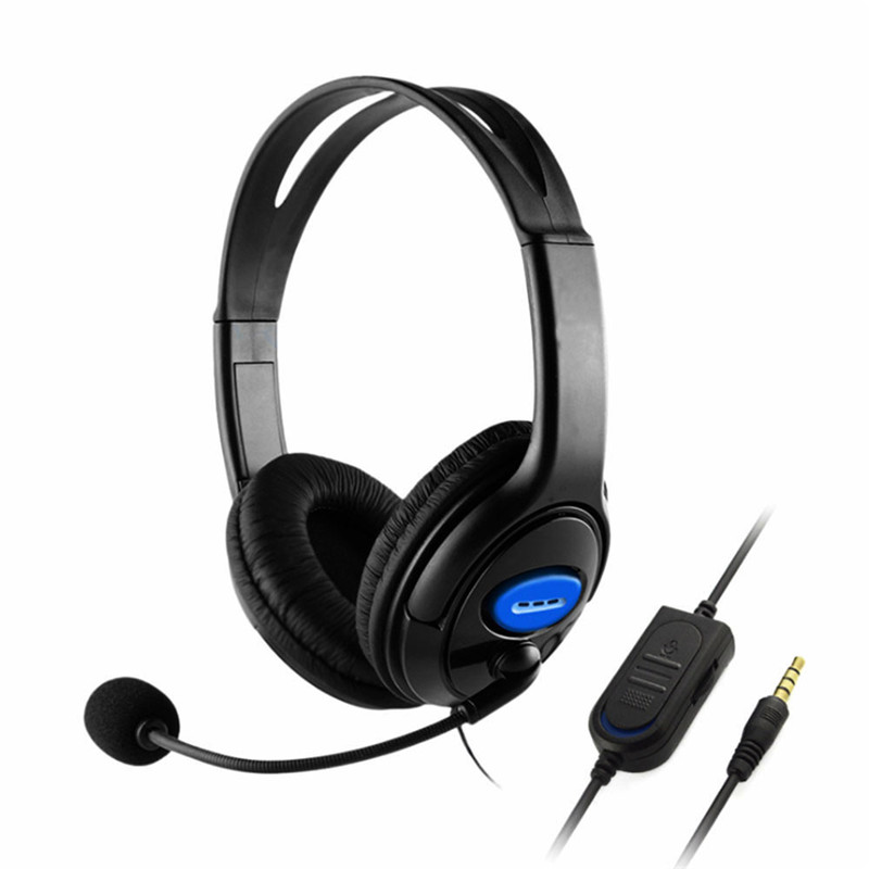1Pcs 3.5mm Wired Headphones Professional Stereo Gaming Headphones Headset For PC Computer PS4 xbox one With Mic цена
