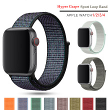 New Nylon Sport Loop band for Apple Watch Series 5 4 3 44mm 40mm Watchstrap Bracelet Band iwatch 42mm 38mm 2 Hyper