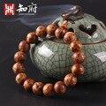 2017 moda natural fragancia Jinzhong Bo envejecimiento de Buda cuentas de collar pulsera joyería de los hombres de lujo de alta calidad de la estera vieja