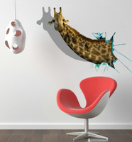 3D Wall Stickers Wall Decals Creative Decoration The Giraffe PVC Wall Stickers