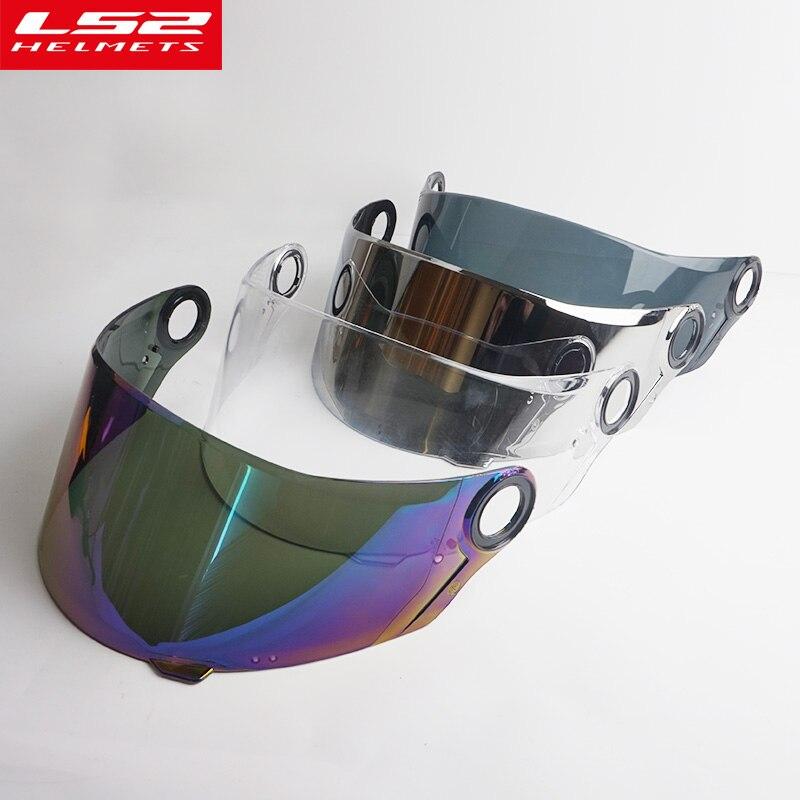 Viseira Original para LS2 FF358 FF392 FF396 4 cores escudo capacete completa rosto capacete da motocicleta Empresa LS2 authoritied viseira do capacete