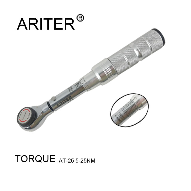 ARITER High-quality Adjustable 1/4 Torque Wrench Bike Bicycle 5-25nm Tools Mini Wrench Torque Kit Of Auto Tools Professional
