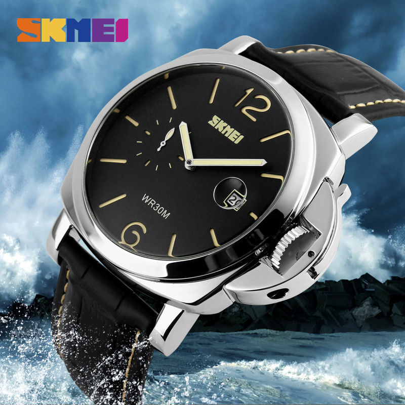 SKMEI Män Armbandsur Fashion Casual Big Dial Quartz Stainless Steel - Herrklockor - Foto 5