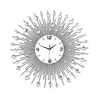 Modern Style 60CM DIY Large Round Metal Wall Clock Home Office Decor Quartz Move white