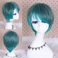 30cm Short Mix Green Color Straight Synthetic Cosplay Party Hair Wigs
