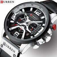 Relogio Masculino Heren Horloges Top Brand Luxe Mannen Militaire Sport Horloge Lederen Quartz Horloge erkek saat Curren 8329