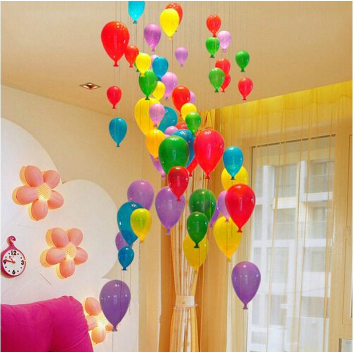 Модная современная светодиодная детская спальня красочная подвеска в виде шара светильник разноцветный стеклянный шар для столовой лестничный светильник - 6