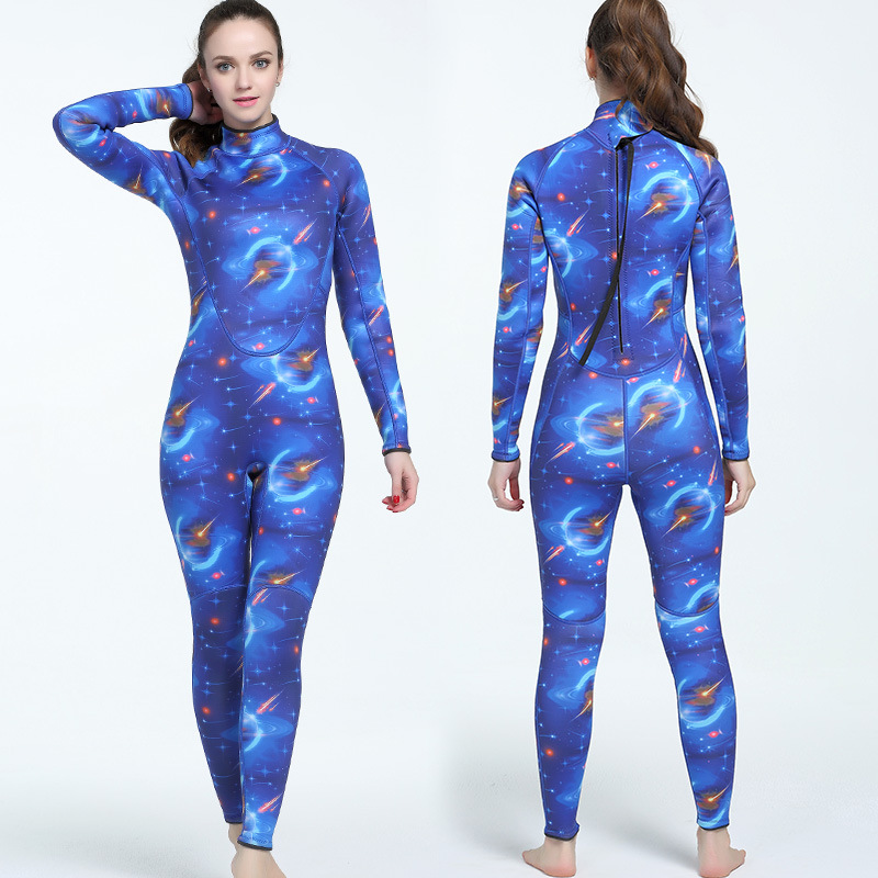 3mm Women's Neopren Camouflage One Piece Submersible Suit Surfing Suit Prevent Cold Warmth Diving Suit For Lady Size S-XXL lady xxl