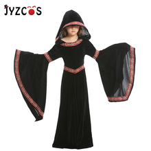 JYZCOS Vampire Girl Cosplay Costume Halloween Party Costumes for Kids Masquerade European Medieval Court Dress